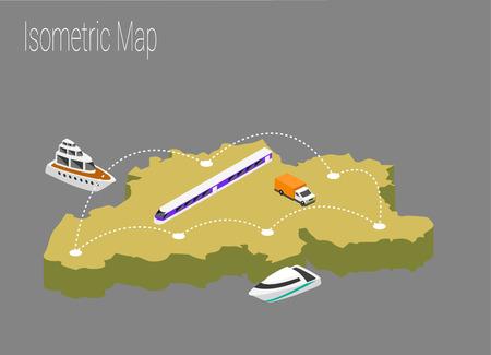 Map Belgiumisometric concept. 3d flat illustration of Map Belgium. Illustration