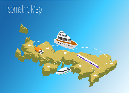 Map United Kingdoml isometric concept. 3d flat illustration of Map United Kingdom.