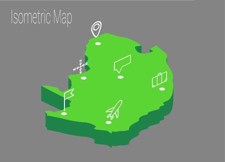 Map North Africa Isometric Concept 3d Flat Illustration Of Map