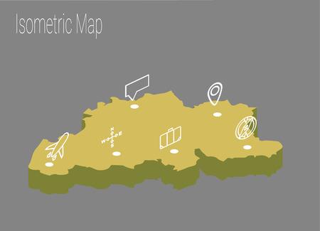 details: Map Belgiumisometric concept. 3d flat illustration of Map Belgium. Illustration