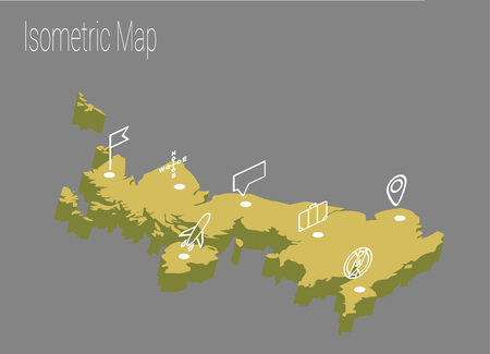 Map United Kingdoml isometric concept. 3d flat illustration of Map United Kingdom.