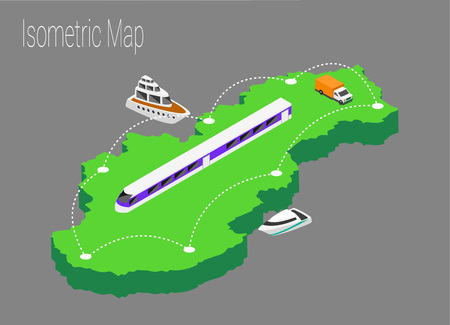 スロバキアアイソメ図をマップします。地図スロバキアの3d フラットイラスト。
