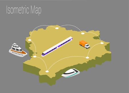 Map Belarus isometric concept. 3d flat illustration of Map Belarus.