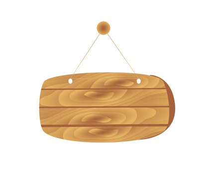 Cartoon brown wooden plates. Vector set isolate on white background. Wooden plates collection, illustration of wood board