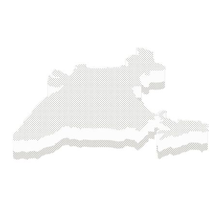 Map India isometric concept. 3d flat illustration of Map India. India map made of dots and textures.