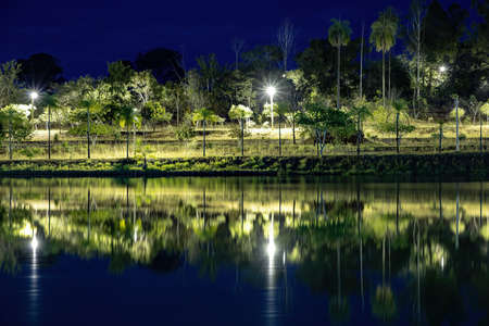 Natural Lake of Itaja Goias in brazil Stock Photo
