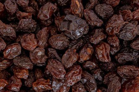 background of raisins texture in macro view