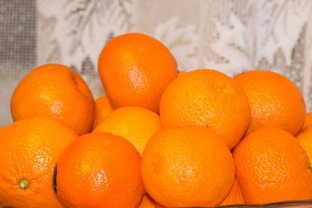 tangerine: delicious tangerines tangerine orange gourmet food Stock Photo