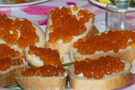prepared food: fish caviar prepared  food caviar seafood gourmet Stock Photo