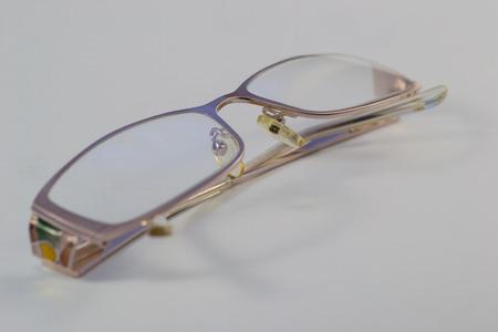 nearsighted: eyeglasses vision human defocused glasses blindness eye Stock Photo