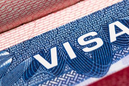 busines: visa passport stamp travel american usa busines