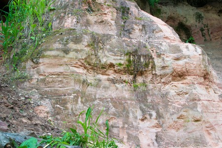 locations: cave stone object nature travel locations color material Stock Photo