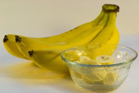 frescura: plátano amarillo fruta sana, comiendo frescura