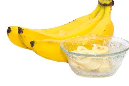 the freshness: banana yellow healthy fruit food, eating freshness Stock Photo