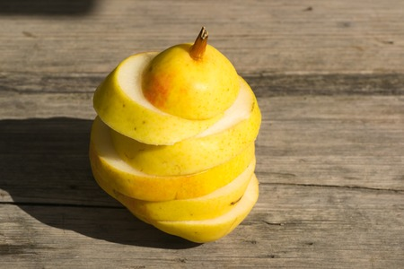 no way out: pear food white fruit on color background eating