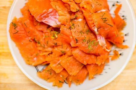 prepared: red fish sliced prepared fish food  sashimi