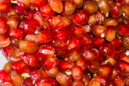 frescura: granada roja fruta dulce frescura org�nica Foto de archivo