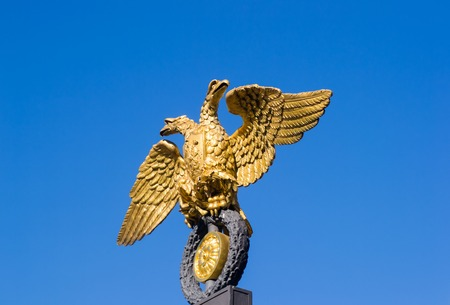 doubleheaded: Golden double-headed eagle in the center of the old city