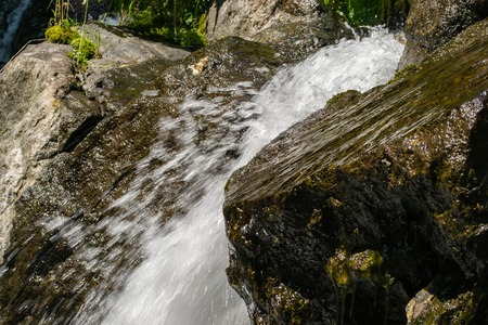 waterfall water nature falling river flowing outdoors