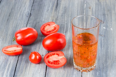 tomatoes on wooden
