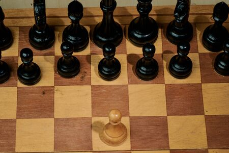 chess board game for ideas and competition and strategy Stock Photo