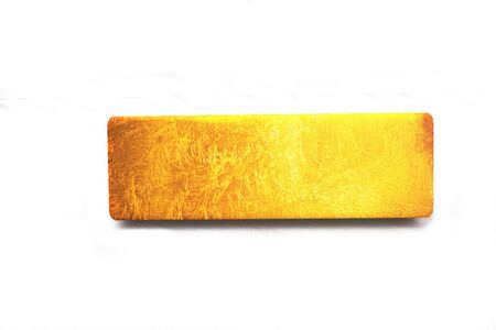 Gold bar with texture on 3D rendering