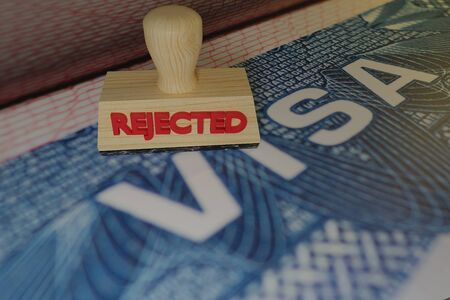 stamp Rejected 3D rendering of wood print Stock Photo