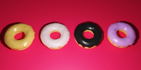 donut 3D rendering which is loved by Americans is made on