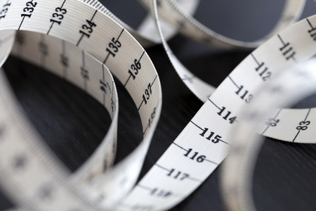 Measuring tape. Closeup.