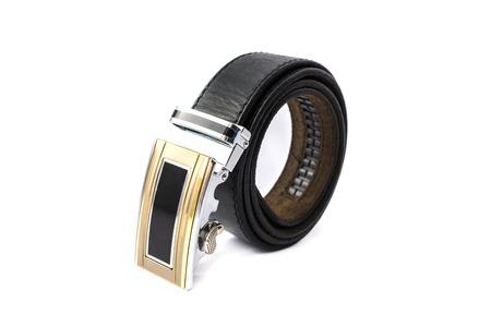whitespace: Leather belt isolated on the white background.