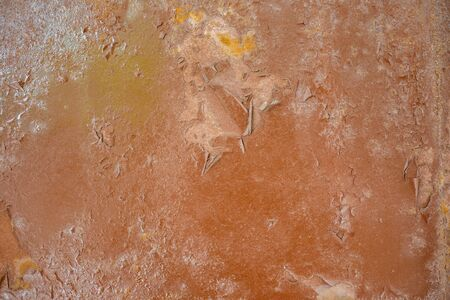 Old paint on metal, paint layer and primer, cool texture mixture with rust