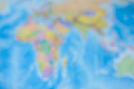 blurred background map of the world Stock Photo