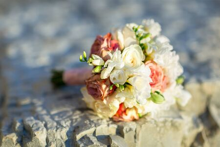 close up of wedding bouquet .Wedding day .bouquet with love Stock Photo