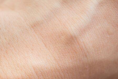Macro of human skin. Human skin texture.