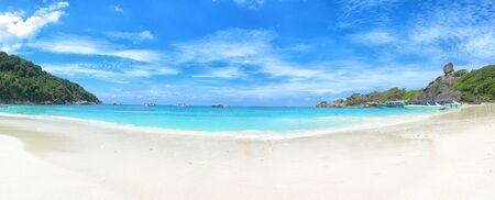 Beautiful view with blue sky and clouds on Similan island, Similan No.8 at Similan national park, Phuket, Thailand.