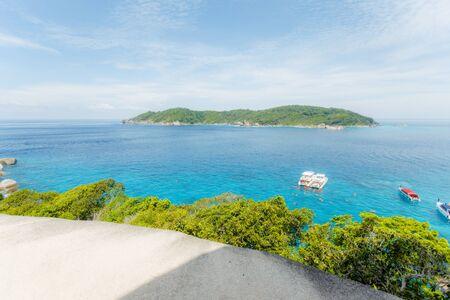 Beautiful view with blue sea on Similan island, Similan No.8 at Similan national park, Phuket, Thailand. Stockfoto