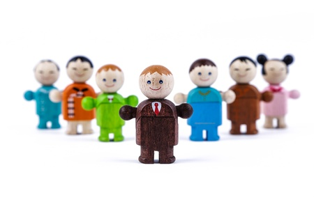 bussinessman: wood toys, bussinessman models, concepts of leadership