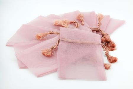 Borse di souvenir rosa, confezioni regalo per la cerimonia nuziale Archivio Fotografico - 20382388