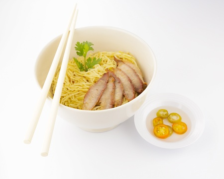 chinese noodle: delicious chinese noodle with pork, Asian cuisine