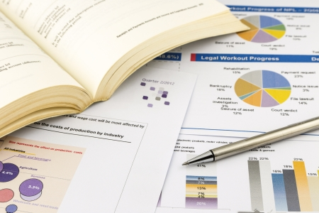 financial charts and graph, business concept and ideas Stock Photo