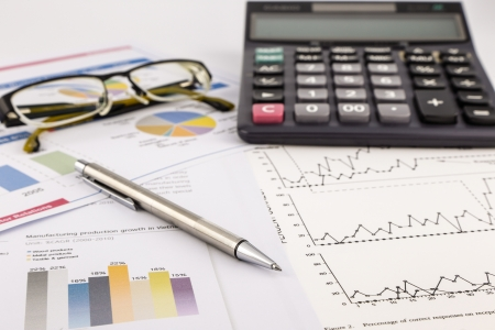 chats: business concept and ideas, financial report, graphs and chats Stock Photo
