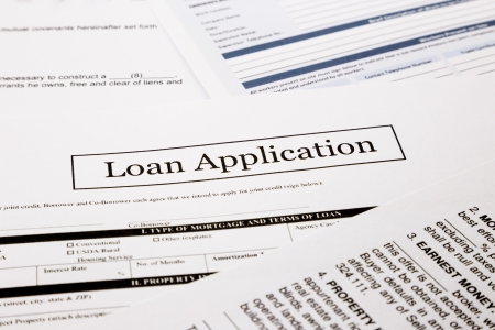 consent: loan application form, business and finance concepts