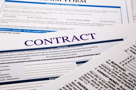 contract form, business concept and legal system photo