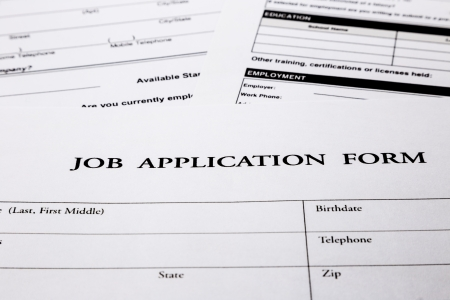 employment application form, human resources and business concepts