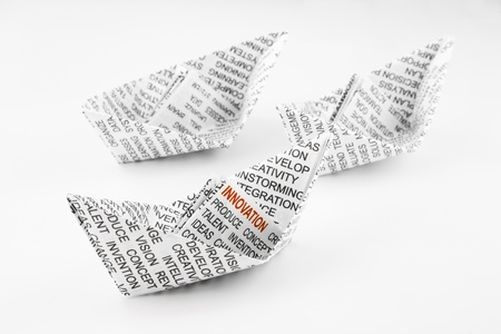 origami boats, innovation idea and business concept Stock Photo - 20831249