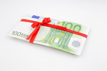 eurozone: gift of money for celebration, eurozone currency