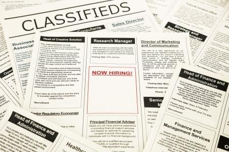 vacante: peri�dico con anuncios y avisos clasificados para la vacante, ahora contratar