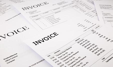 close-up factures de différence et les factures, documents et papiers