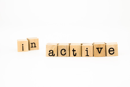 split inactive  wording, reform to active wording, motivation concept and idea Imagens - 25852008