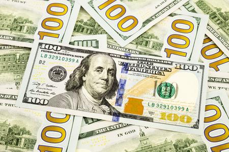 fondos negocios: nueva edición de los billetes de 100 dólares, el dinero y la moneda de la banca y el concepto financiero